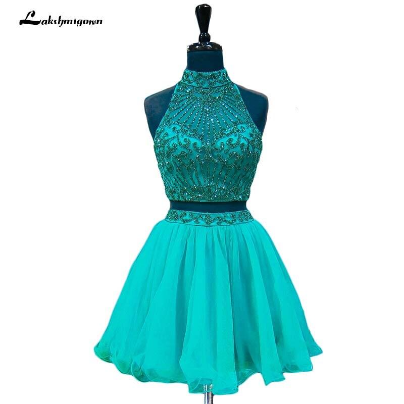 Короткие вечерние платья 2018 Зеленый Тюль Кристалл обратно в школу милые 8th Класс Выпускной Вечерние платья vestido graduacion