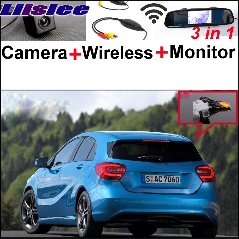 Liislee 3 in1 Special WiFi Back Camera + Wireless Receiver + Mirror Screen Rear View Parking System For Mercedes Benz A MB W176 3in1 special wifi camera wireless receiver mirror monitor easy diy parking system for mercedes benz mb a class w169