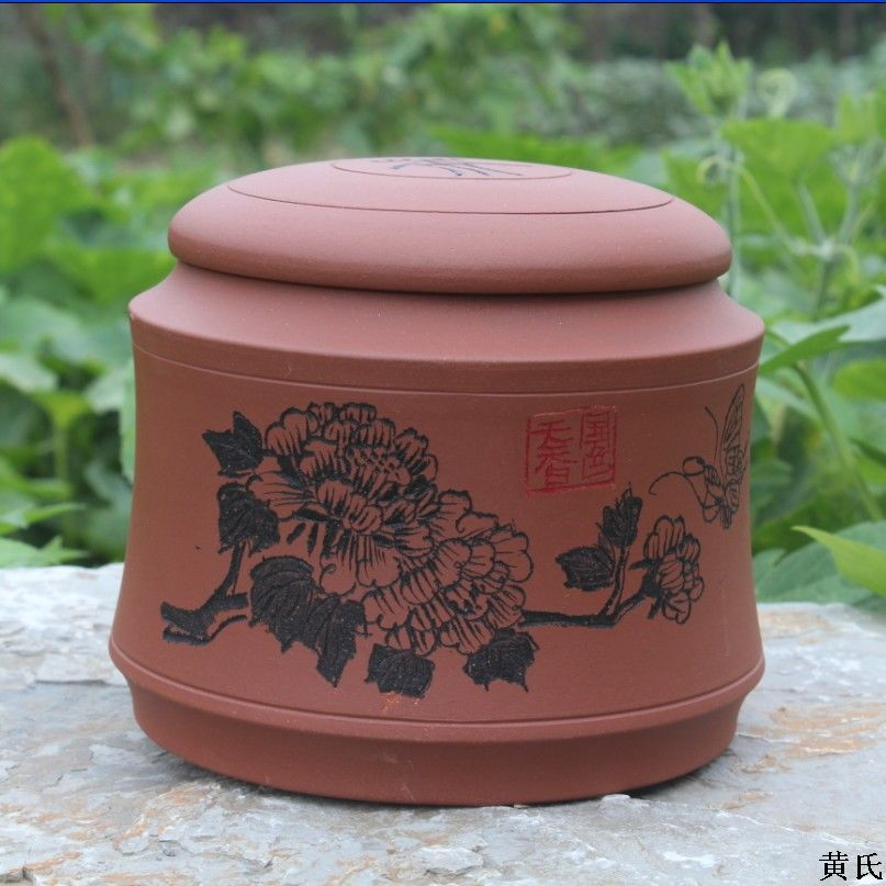 Yixing Tea Wholesale Tea Storage Tank Round Tank Ore Clear Cement Fashionable Store Mixed Batch