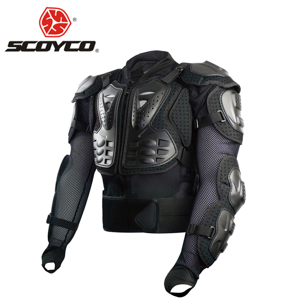 SCOYCO Motorcycle Armor Professional Moto Full Body Protector Motor Body Armor Motorcycle Jacket Protective Black And Red