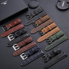 En çok satan saat kayışı deri izle bilezik Panerai Samsung süper kalite hakiki deri kayış 20mm 22mm 24mm 26mm çelik toka