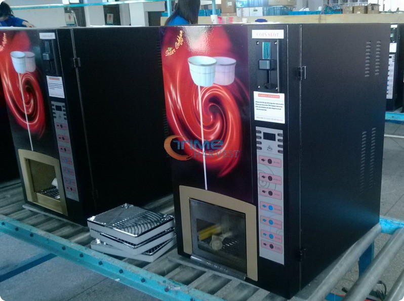 High Quality Coin operated coffee vending machine with multi coin accepter/Commercial Hot Drinks tea Coffe Vending Machine small cigarette box vending machine bjy b50 with light box