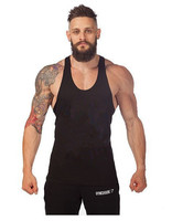 Solid Cotton GYMS Tank Top Mens Bodybuilding Stringer Vest Fitness Singlet Sleeveless Crossfit Shirt Muscle Workout