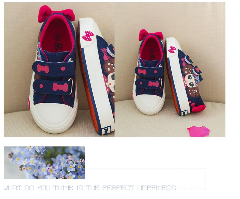 Canvas Children Shoes 17 New Baby Girls Princess Shoes Brand Kids Sneakers for Girls Denim Child Flat Toddler Shoes 12