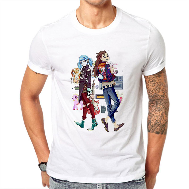 Sally Face Cartoon Hot Sale Funny TShirts Men/women Summer White Short Sleeve Casual T-shirt Cool T Shirt O-Neck Cotton Clothing image