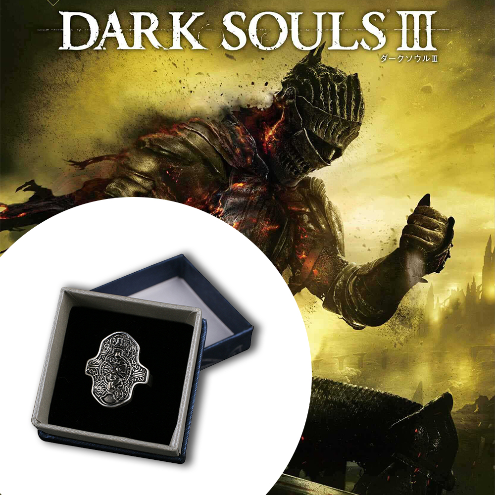 Dark Souls 3 Ring of Steel Protection High Quality Cosplay Rings for Women Men Jewelry The Avengers 3 Thanos Ring Accessories