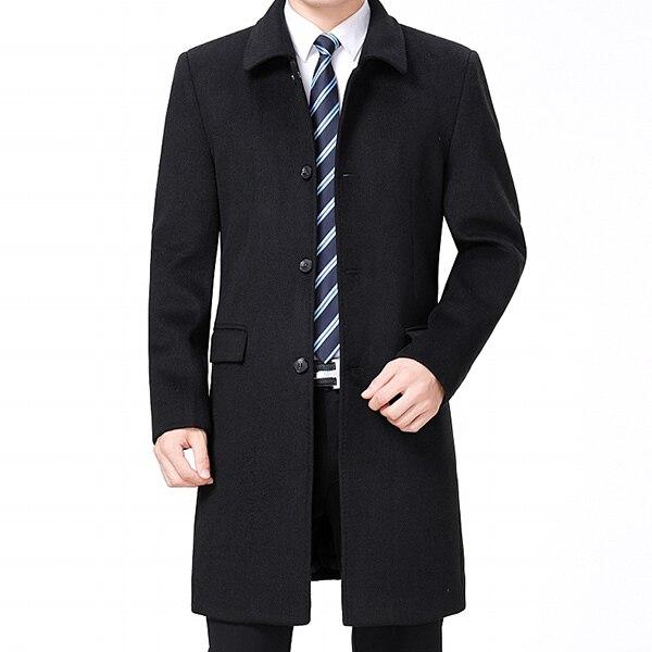Men Woolen Coat Winter Wool...
