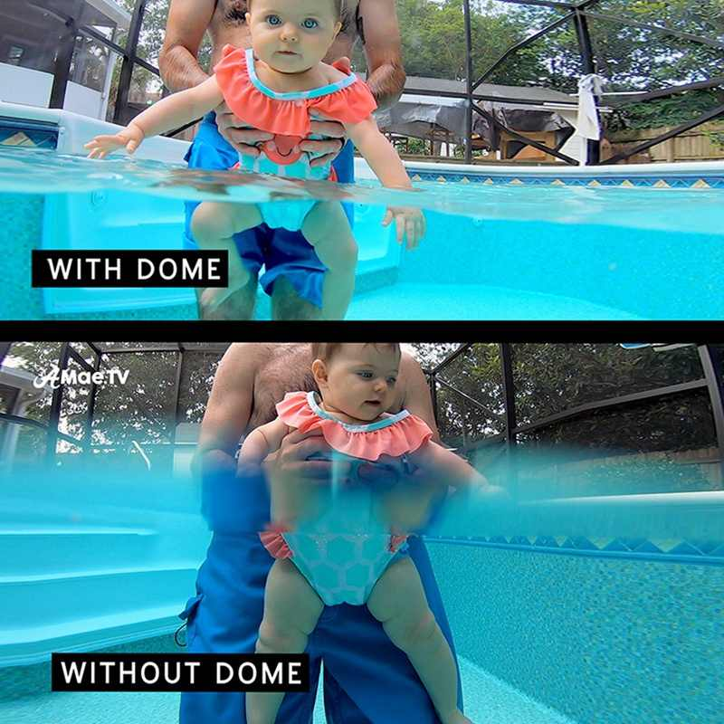 6 inch Dome Poort Lens Voor Gopro Hero7 Zwart/Hero6/Hero5/Hero (2018) waterdichte Behuizing Case Hand Drijvende Grip Trigger, Trans