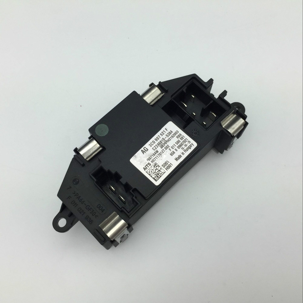 For Vw Audi Passat Golf Skoda Automatic A C Heater Fan Blower Motor Ac Compressor Wiring Plug Pigtail 9299 Jetta Gti Tandem Resistor Air Conditioning Regulator 3c0 907 521 F D B In