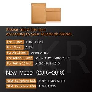"""Image 2 - Laptop Fall für Macbook Air 13 """"Pro Retina 11"""" 12 """"15"""" 2016 2017 Neue Mode Hohe qualität Weiche Split Leder Hülse tasche 2018"""