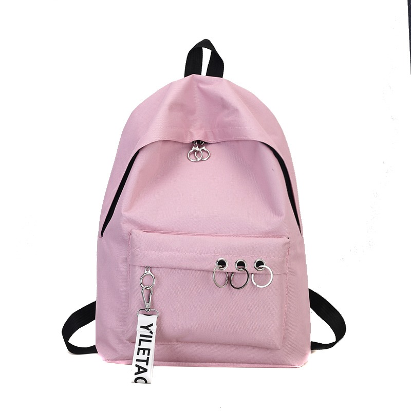 Backpack Bookbags Travel-Bags College Waterproof Fashion Solid Women