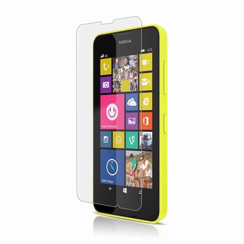 0.26 ملليمتر 2.5d سامسونج قسط الزجاج المقسى الفيلم ل نوكيا lumia 630 635 636 638 المزدوج سيم n630 شاشة حامي واقية فيلم