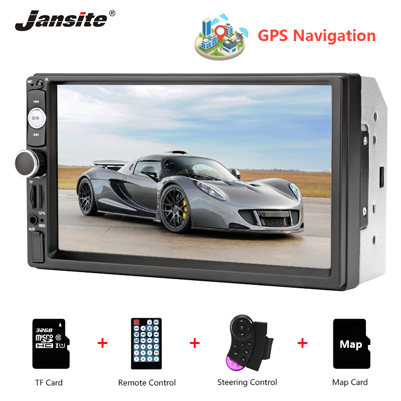 Jansite 7 GPS MP5 Car Radio Touch Screen player with Steering wheel controls Stereo radio Auto multimedia players reverse image