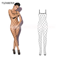 Sexy Lingerie Hot Bodysuit Fishnet Tights Stockings Women Bodystocking Plus Size Open Crotch Sex Erotic Underwear Costumes WY308
