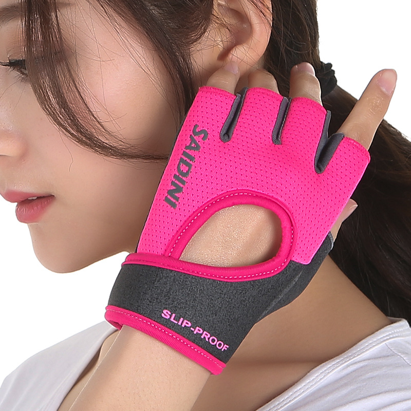 2019 new female fitness sports gloves gym bodybuilding weightlifting yoga dumbbells cycling equipment training high elasticity