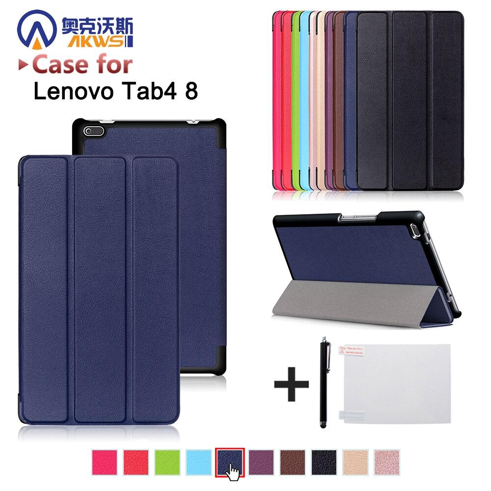 Funda para Lenovo Tab 4 8 pulgadas Tablets tb-8504f/8504n 8 pulgadas Tablets 2017 versión con soporte pu funda protectora de cuero