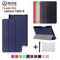 Funda para Lenovo Tab 4 8 pulgadas tableta TB-8504F/8504N 8 pulgadas tableta 2017 lanzamiento con soporte PU caso protector de cuero