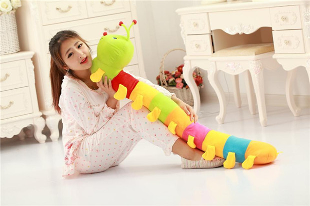 new creative plush Colorful caterpillar toy lovely stuffed Millipedes doll gift about 150cm the huge lovely hippo toy plush doll cartoon hippo doll gift toy about 160cm pink