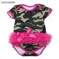 Мода Камуфляж Baby Girl Боди Криперс Комбинезон Комбинезоны Vetement Bebe Fille Детская Одежда Симпатичные Малышей Девушка Одежда