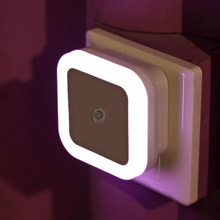 ICOCO Mini Novelty Square Bedroom Lamp Sensor Control Night Light EU/US Plug Light for Baby Gift Romantic Colorful Lights