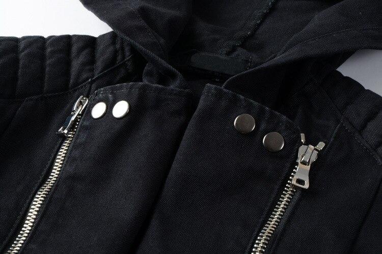 Batmo 2018 Новое поступление осенние высококачественные черные повседневные джинсовые куртки с капюшоном для мужчин, мужские модные куртки бол... - 3