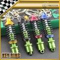 Car-styling Spring Metal Keyring Trendy Key Ring Chain JDM Universal