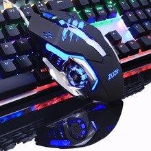 3200 Точек на дюйм 6 Кнопка LED Проводная Оптическая USB Мыши мыши с Подсветка для Pro Gamer Новые