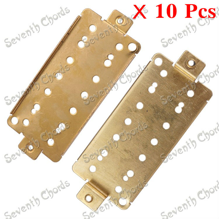 10 pcs brass 7 string pickup humbucker baseplate for electric guitar replacement parts pole. Black Bedroom Furniture Sets. Home Design Ideas