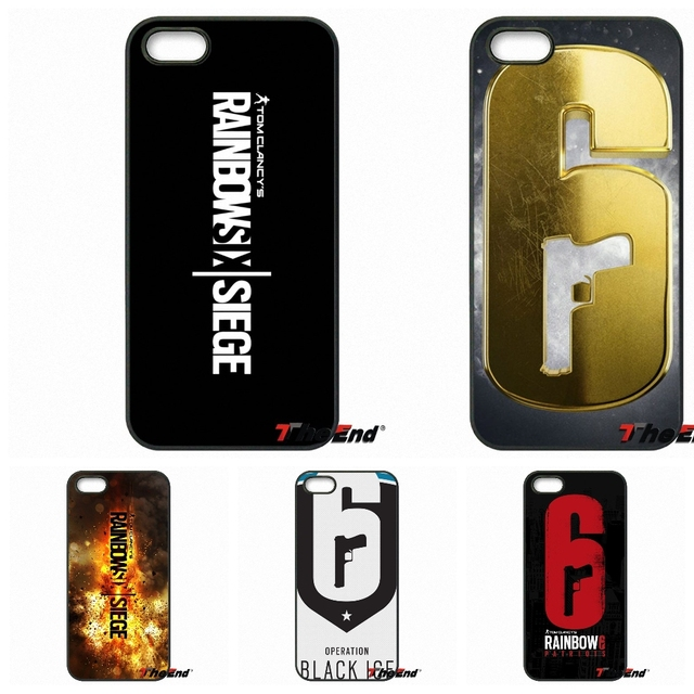 best website 72e40 60c2d US $4.99  Cool Rainbow Six Siege Operation Logo Cell Case For iPhone X 4 4S  5 5C SE 6 6S 7 8 Plus Galaxy J5 J3 A5 A3 2016 S5 S7 S6 Edge-in ...