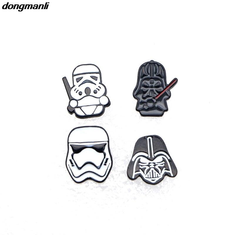 M1848 Star Wars Stormtrooper Head Earring Black White Warrior Cosplay Earrings Alloy jewelry accessories jewelry accessories