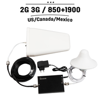 Complete Set CDMA 850mhz PCS 1900mhz Cell Phone Signal Booster Repeater Mobile Signal Amplifier With Antenna