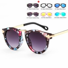 MYT_0112 Kids Sunglasses Boys And Girls Luxury Vintage Children Oval Sun Glasses Oculos Retro Eyewear