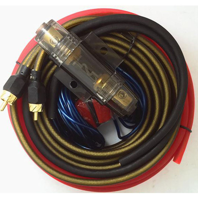 Best Price 1500W Car Audio AMP Power Cable High quality Subwoofer Amplifier Wiring 10GA With AGU FUSE