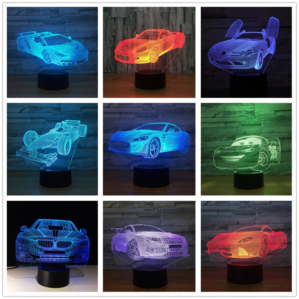 Overwatch Origins3D Acrylic LED 7 Color Night Light Touch Table Art Lamp Gift