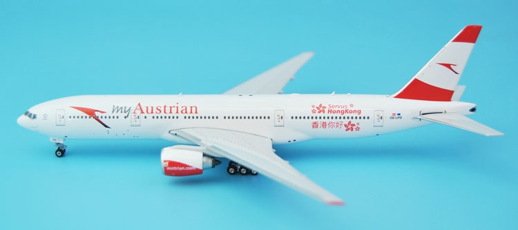 new Phoenix 1: 400 04109 Austrian Airlines B777-200ER Hello in Hong Kong Painting Alloy aircraft model Collection model Holiday босоножки foot in hong kong z14cl6610
