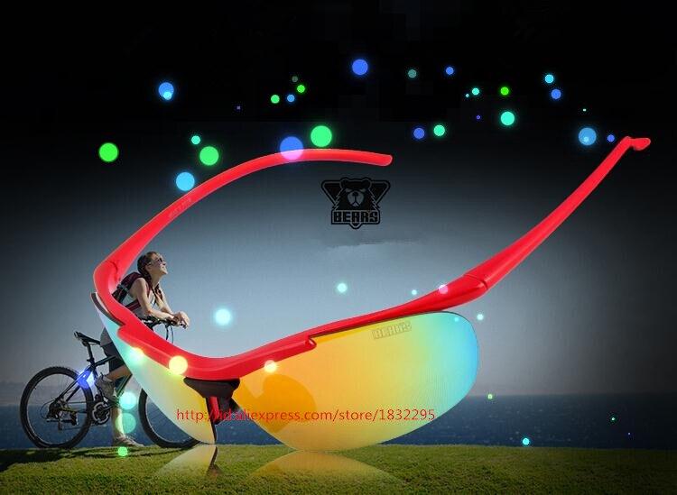 UV400 Sports de Plein Air MenWomen Vélo Vélo Lunettes de Soleil Ombre Lunettes  Lunettes lunettes de Soleil Vélo Pilote 5 Lentilles En Verre de Lunettes De  ... 18f1cc3945c7