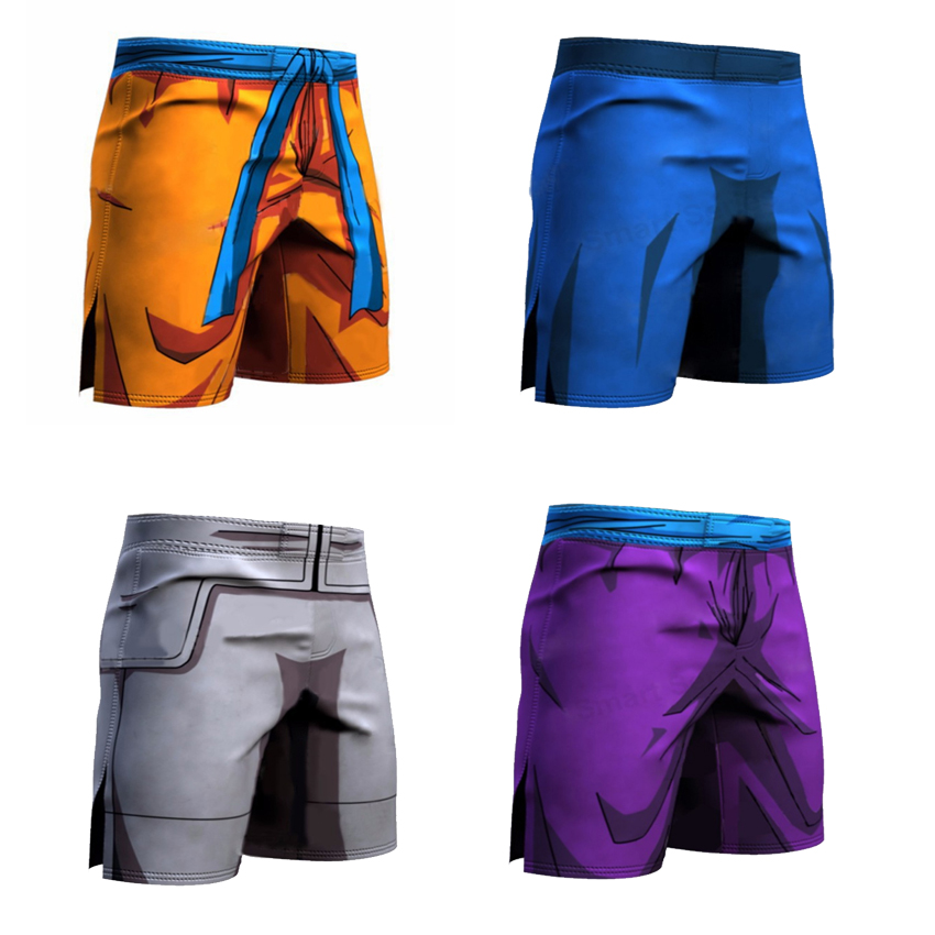 Dragon Ball Z Men Quick dry Trouser Cosplay Son Goku Vegeta Trunks Goku Piccolo Summer Middle Pants High Flexibility Sportwear