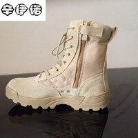 Big Size 37 45 Men Combat Boots Shoes Male Tactics Boots Desert Shoes Camouflage Military Tactical