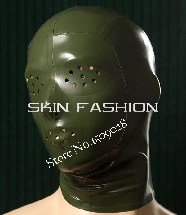 ! Mesh eyes/mouth latex mask hoods - SKIN FASHION store