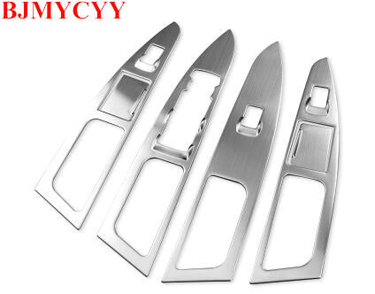 BJMYCYY 4PCS/SET Stainless steel decoration frame for car window lifting panel for new ford mondeo 2013-2018