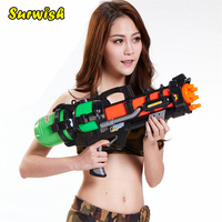 Plastic Squirt Gun Water Shooters Funny Gun Toy For Kids 600ml 800ml Color Random