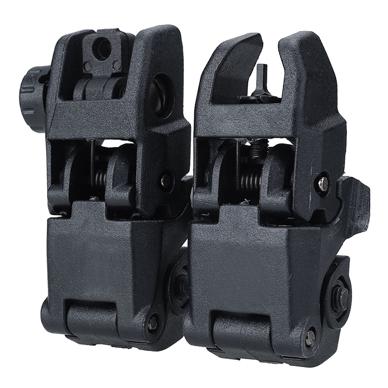 2pcs/lot 20MM Gen1 Tactical Folding BUIS Sight Set Front Rear-GEN 2 Dark Earth With Free MSP Silicone Gun Cloth Hunting Set