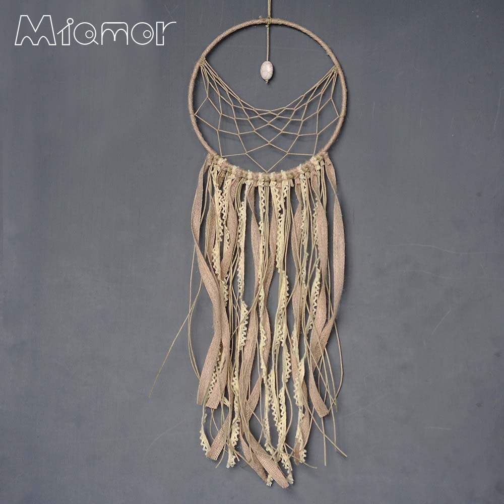 Ny mode gave Indien Lace & Stone Dreamcatcher Wind Chimes Indisk Style Fjeder Vedhæng Dream Catcher Regalo Amor6001