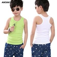 Children Clothing 2019 Boy Girl Cotton Vest T Shirt Tops Tee Back Kids Toddler Baby 90