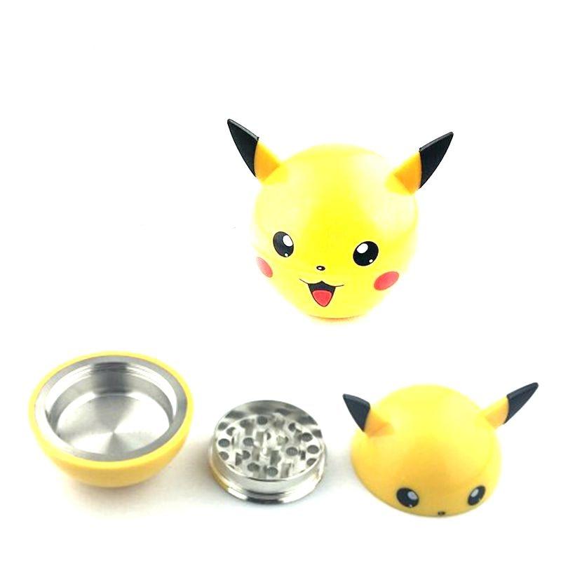 3 շերտեր Pikachu Herb Grinder Weed Metal ցինկ խառնուրդ ծխախոտ ծխախոտ ջարդիչ ջրի խողովակների համար Hookah Drop Ship Pokemon Go Pokeball