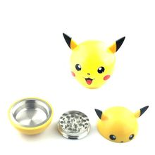 3Layers Pikachu Herb Grinder Weed  Metal Zinc Alloy Smoke Tobacco Crusher for Water Pipe Hookah Drop Ship Pokemon Go Pokeball