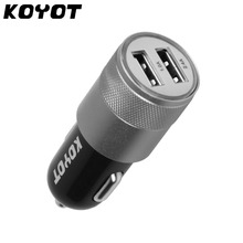 KOYOT Dual USB Car Charger For Iphone 6 6s Plus 5s Universal Car Phone Charger For Ipad USB Adapter For Samsung USB Cigar Socket