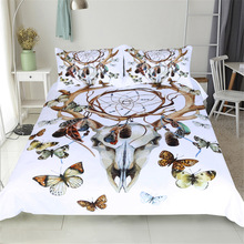 CAMMITEVER Butterfly Dreamcatcher Bedding Set King Size Luxury Print Bohemian Bedclothes 3d Universe Duvet Cover