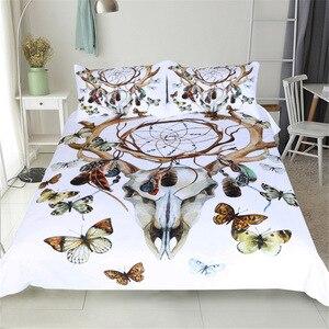Image 1 - CAMMITEVER Butterfly Dreamcatcher Bedding Set King Size Luxury Print Bohemian Bedclothes 3d Universe Duvet Cover