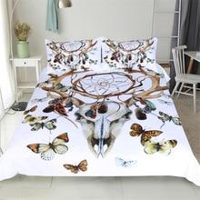 CAMMITEVER Schmetterling Dreamcatcher Bettwäsche Set König Größe Luxus Druck Böhmischen Bettwäsche 3d Universum Bettbezug